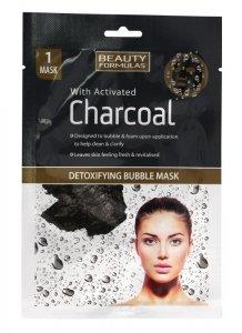Beauty Formulas Charcoal Maseczka detoksykująca bąbelkowa z aktywnym węglem  1szt