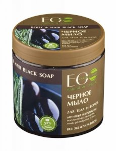 EOLaboratorie Body & Hair Soap Greckie czarne mydło do ciała i włosów  450ml