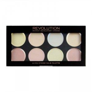 Makeup Revolution Paleta kremowych rozświetlaczy do twarzy Ultra Strobe Balm Palette V4, 1 szt.