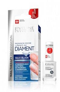 Eveline Nail Therapy Lakier odżywka utwardzająca do paznokci Diament 12ml