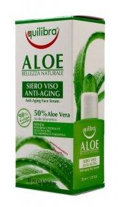 Equilibra Aloe Serum przeciwstarzeniowe do twarzy 50% aloesu  30ml