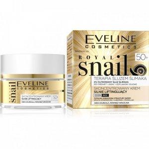 Eveline Royal Snail 50+ Skoncentrowany Krem silnie liftingujący na dzień i noc  50ml