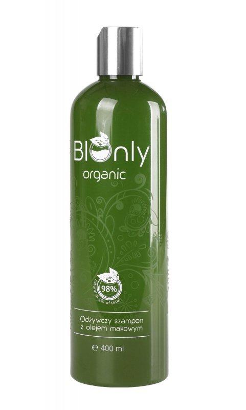 BIOnly Organic Szampon odżywczy z olejem makowym 400ml