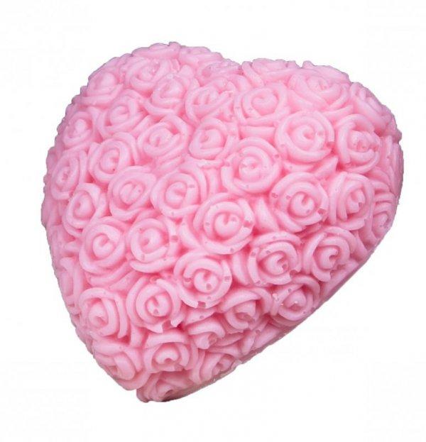 LaQ Mydełko glicerynowe Wielkie Serce - różowe  120g