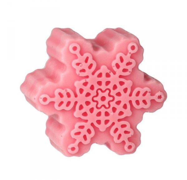 LaQ Mydełko glicerynowe Śnieżynka -  różowa  90g