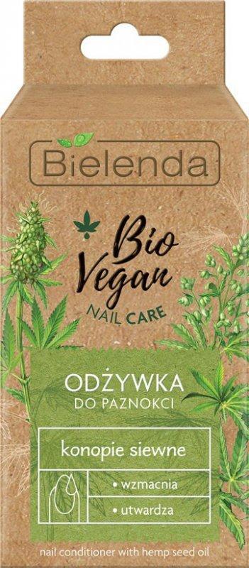 Bielenda Bio Vegan Nail Care Odżywka do paznokci Konopie Siewne - wzmacniająco-utwardzająca 10ml