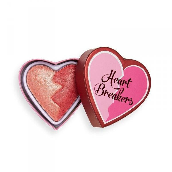 I Heart Revolution Heartbreakers Shimmer Blush Róz rozświetlający do twarzy Strong 10g