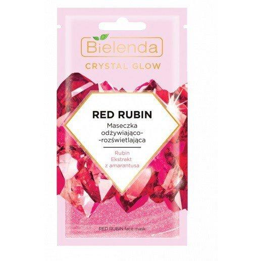 Bielenda Crystal Glow Maseczka odżywiająco-rozświetlająca Red Rubin  8g