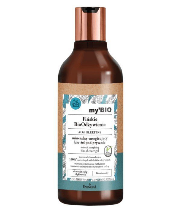 Farmona my'BIO Fińskie BioOdżywienie Bio-Żel pod prysznic odżywczo-energizujący Algi Błękitne  500ml