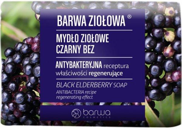 BARWA Ziołowa Mydło ziołowe w kostce Czarny Bez 100g