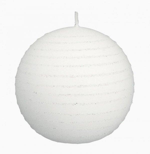 ARTMAN Świeca ozdobna Andalo biała - kula mała 1szt