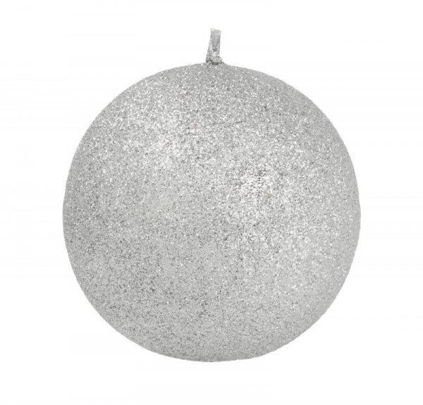 ARTMAN Świeca ozdobna Glamour srebrna - kula mała 1szt