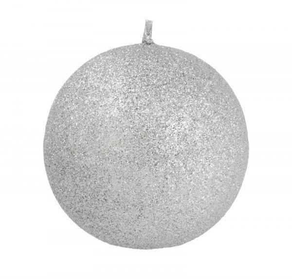 ARTMAN Świeca ozdobna Glamour srebrna - kula duża 1szt