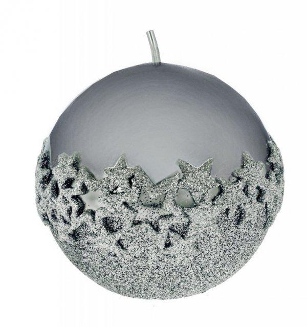 ARTMAN Boże Narodzenie Świeca ozdobna Ice Star grafitowa - kula średnia 1szt