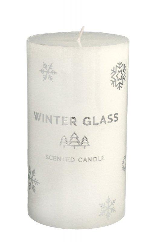 ARTMAN Boże Narodzenie Świeca zapachowa Winter Glass biała - walec średni 1szt