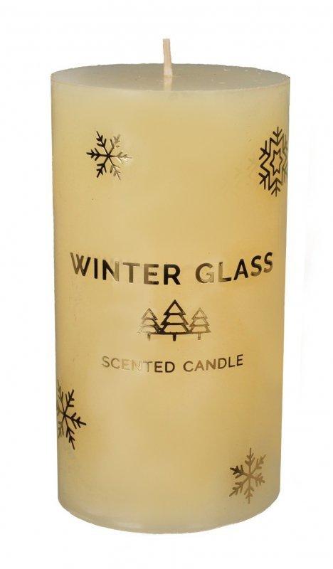 ARTMAN Boże Narodzenie Świeca zapachowa Winter Glass kremowa - walec średni 1szt