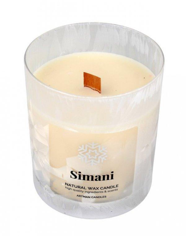 ARTMAN Boże Narodzenie Świeca zapachowa Organic Winter Simani z drewnianym knotem 1szt