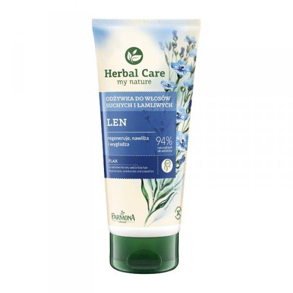 Farmona Herbal Care Odżywka do włosów w tubie Len odbudowująca  200ml
