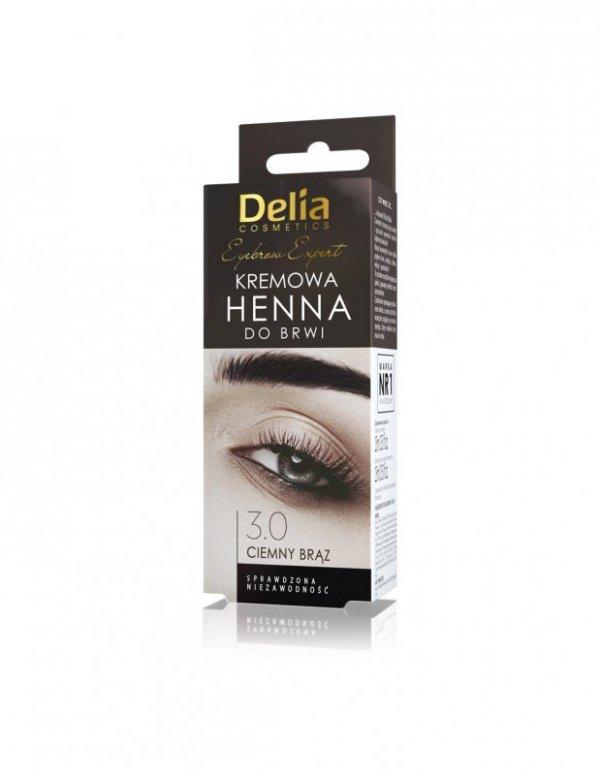 Delia Cosmetics Henna do brwi kremowa nr 3.0 Ciemny Brąz  1op.