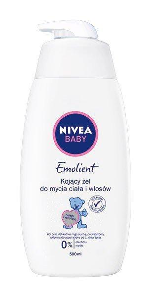 Nivea Baby Kojący Żel do mycia ciała i włosów Emolient  500ml
