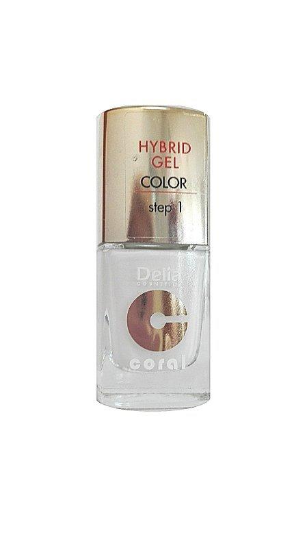 Delia Cosmetics Coral Hybrid Gel Emalia do paznokci nr 25 biały 11ml