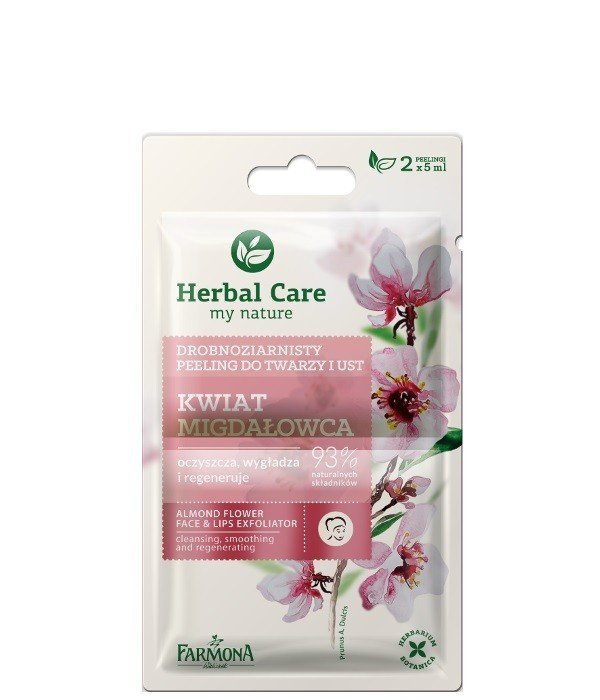 Farmona Herbal Care Peeling drobnoziarnisty Kwiat Migdałowca -  saszetka 5ml x 2