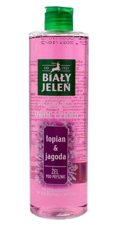 Biały Jeleń Owoc i Zioło Żel pod prysznic oczyszczający Łopian & Jagoda  400ml