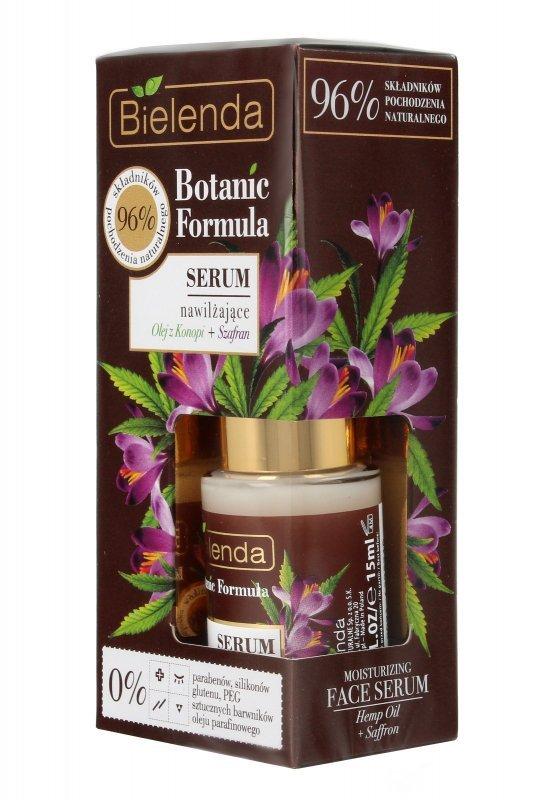 Bielenda Botanic Formula Olej z Konopi+Szafran Serum nawilżające na dzień i noc  15ml