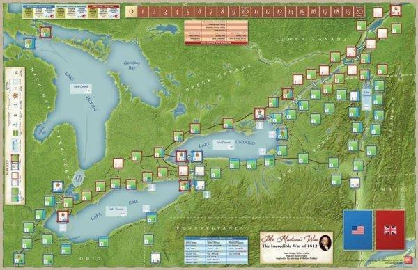 Mr. Madison's War - Mounted Mapboard