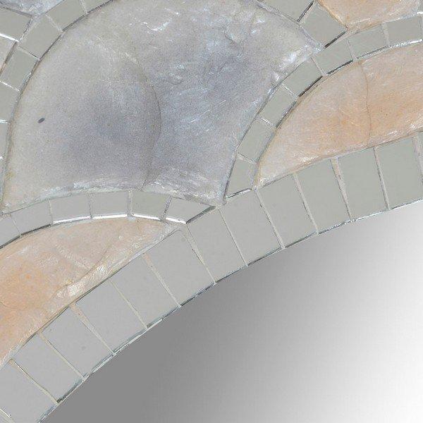 Lustro ścienne DKD Home Decor Bali Szkło Masa perłowa (80 x 1 x 80 cm)