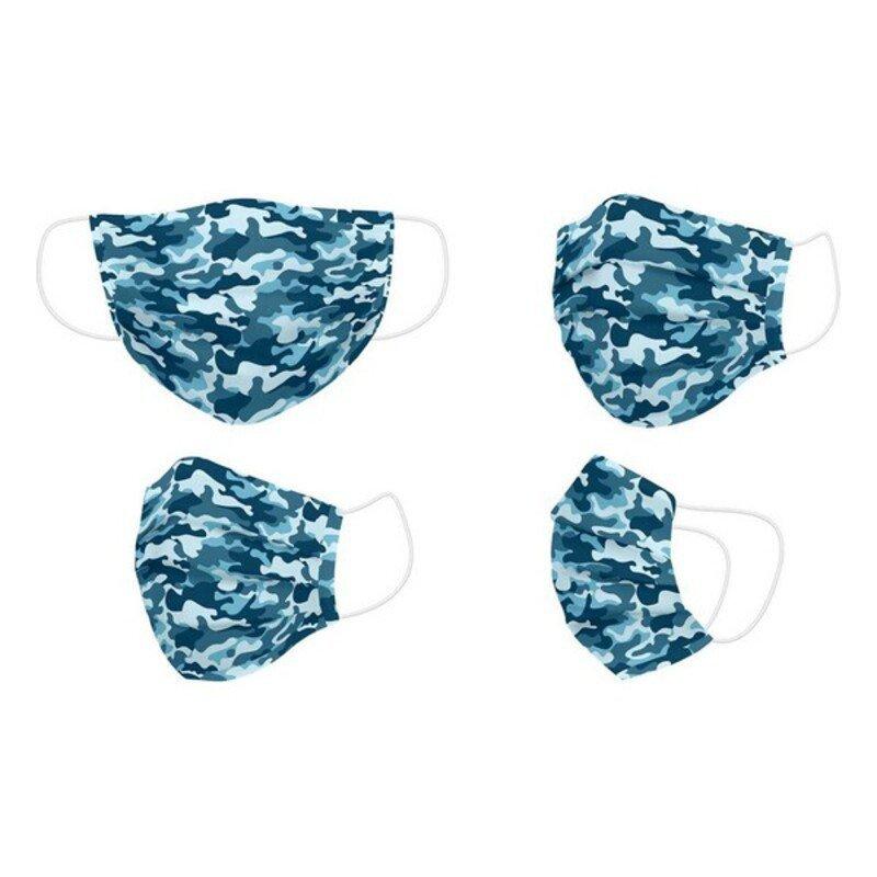 Maska higieniczna materiałowa wielokrotnego użytku Dorosły Niebieski Kamuflaż