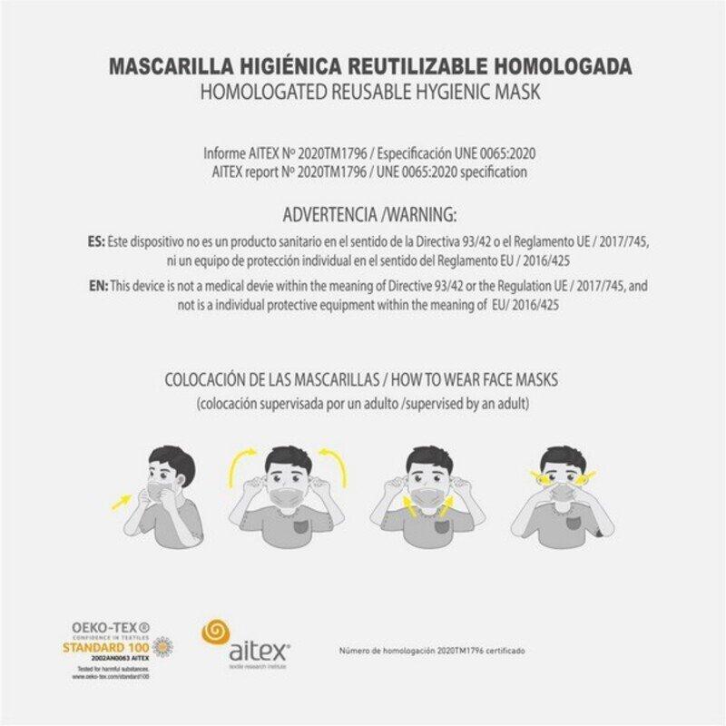 Maska higieniczna materiałowa wielokrotnego użytku Looney Tunes Dziecięcy Biały