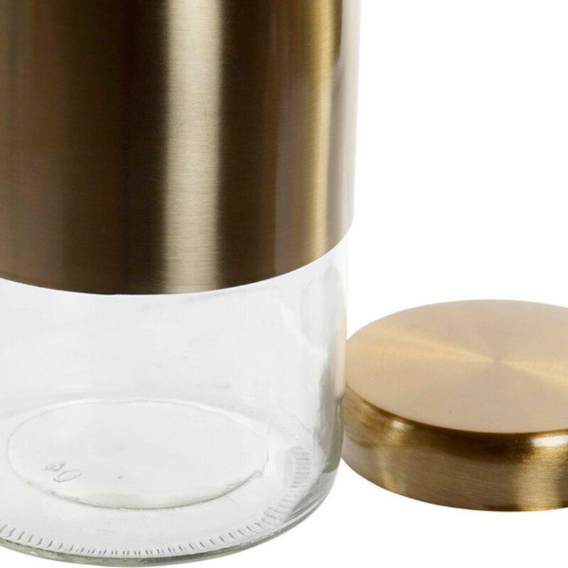 Szklana Butelka DKD Home Decor Złoty (1,6 L)