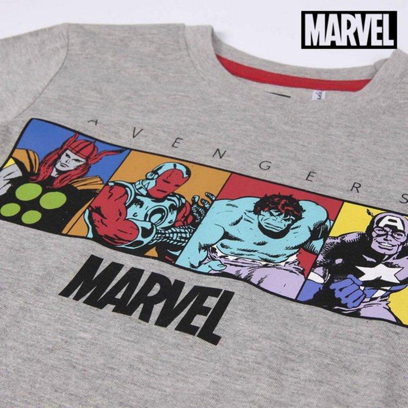 Koszulka z Długim Rękawem Dziecięca The Avengers Szary