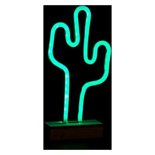 Lampa DKD Home Decor LED Kaktus (19 x 6 x 33 cm)