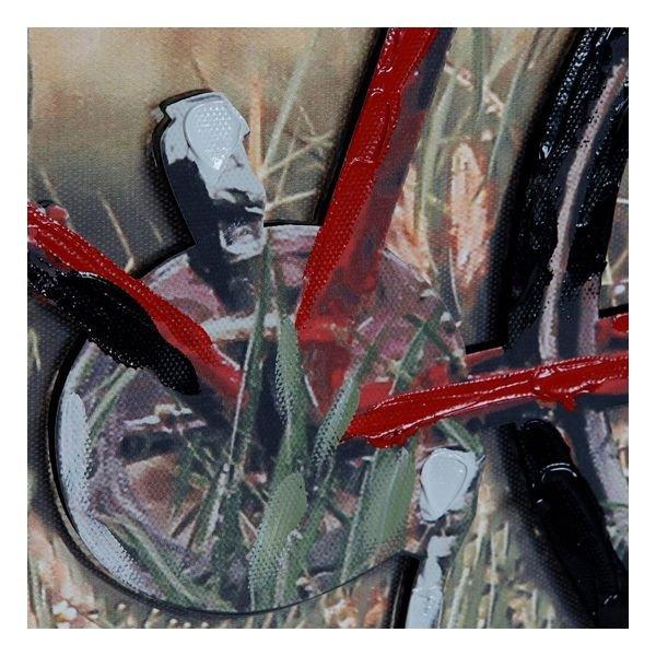 Obraz DKD Home Decor Płótno 3D Czerwony rower (90 x 3 x 60 cm)