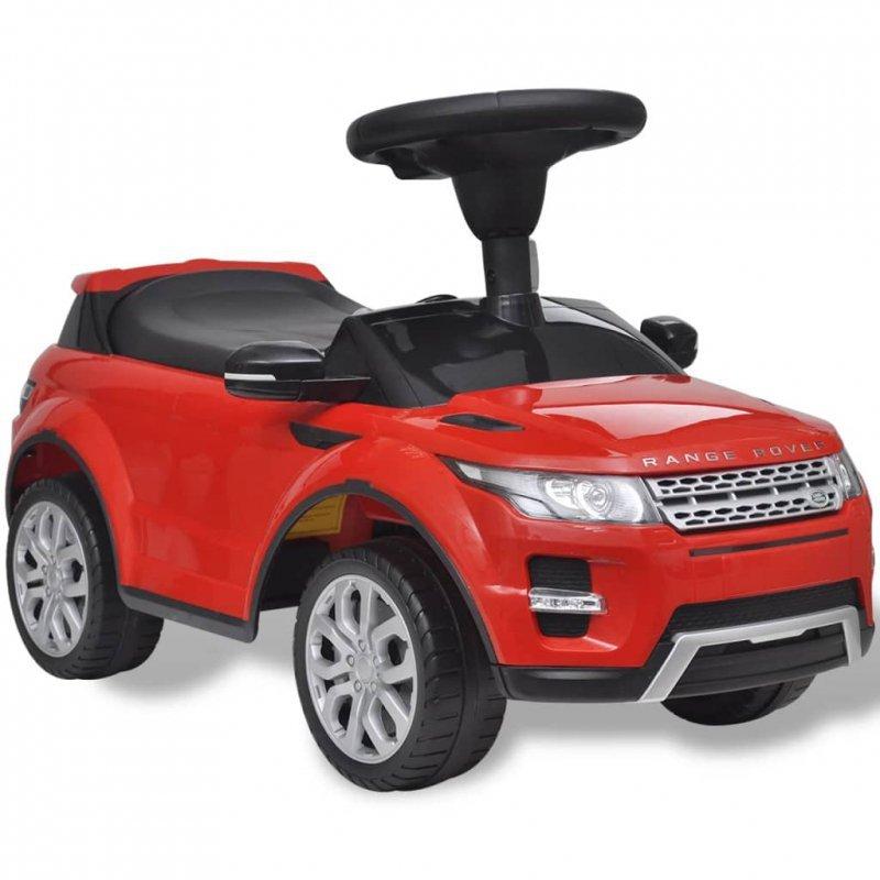 Land Rover 348 Samochód dla dzieci z muzyką kolor czerwony