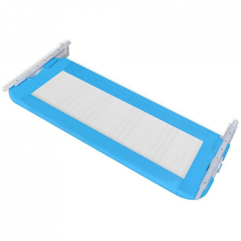 Barierka ochronna do łóżka, 102 x 42 cm, niebieska