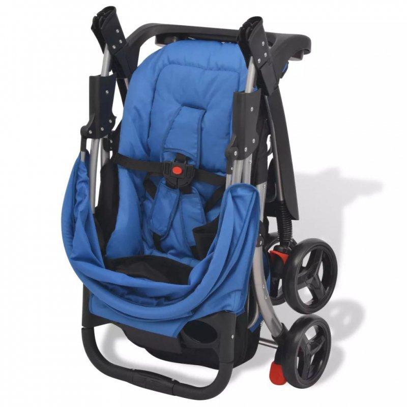 Niebieski wózek spacerowy, 102x52x100 cm