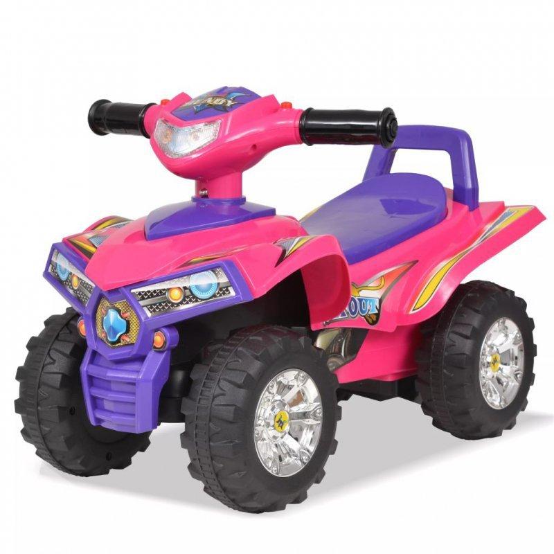 Quad dla dzieci, ze światłem i dźwiękiem, różowo-fioletowy