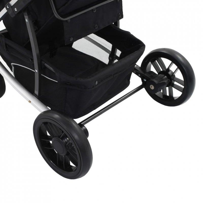 Wózek spacerowy 2-w-1 (gondola i spacerówka), taupe-czarny