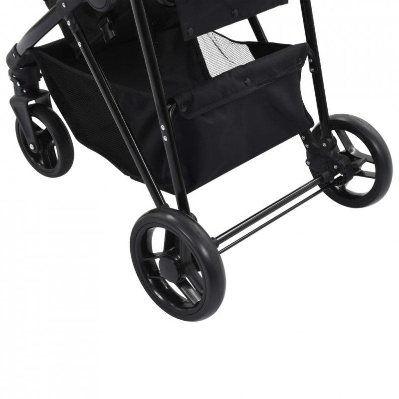Wózek 2w1 (gondola i spacerówka) taupe i czarny, stal