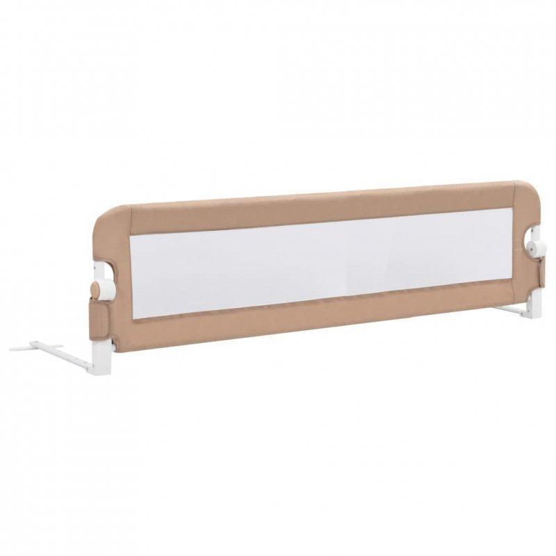 Barierka do łóżeczka dziecięcego, taupe, 150x42 cm, poliester
