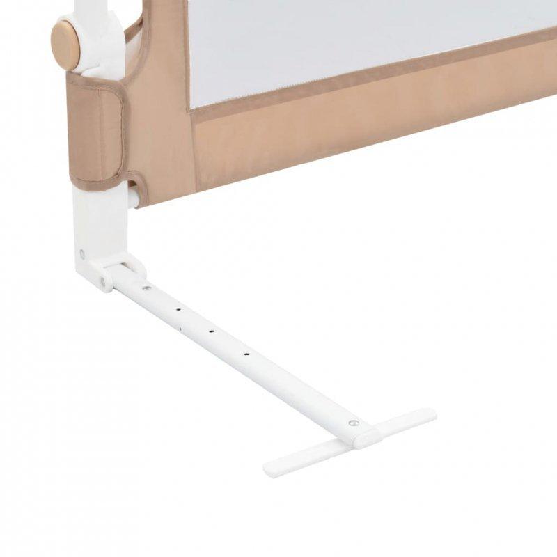Barierka do łóżeczka dziecięcego, taupe, 180x42 cm, poliester