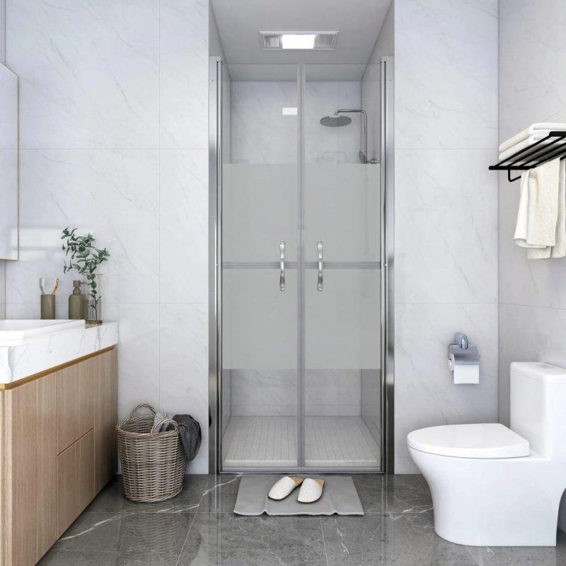 Drzwi prysznicowe, szkło częściowo mrożone, ESG, 76x190 cm