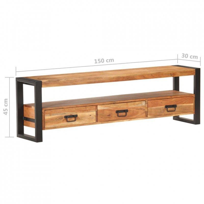 Szafka pod telewizor, 150 x 30 x 45 cm, lite drewno akacjowe