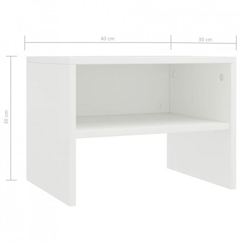 Szafka nocna, biała, 40 x 30 x 40 cm, płyta wiórowa