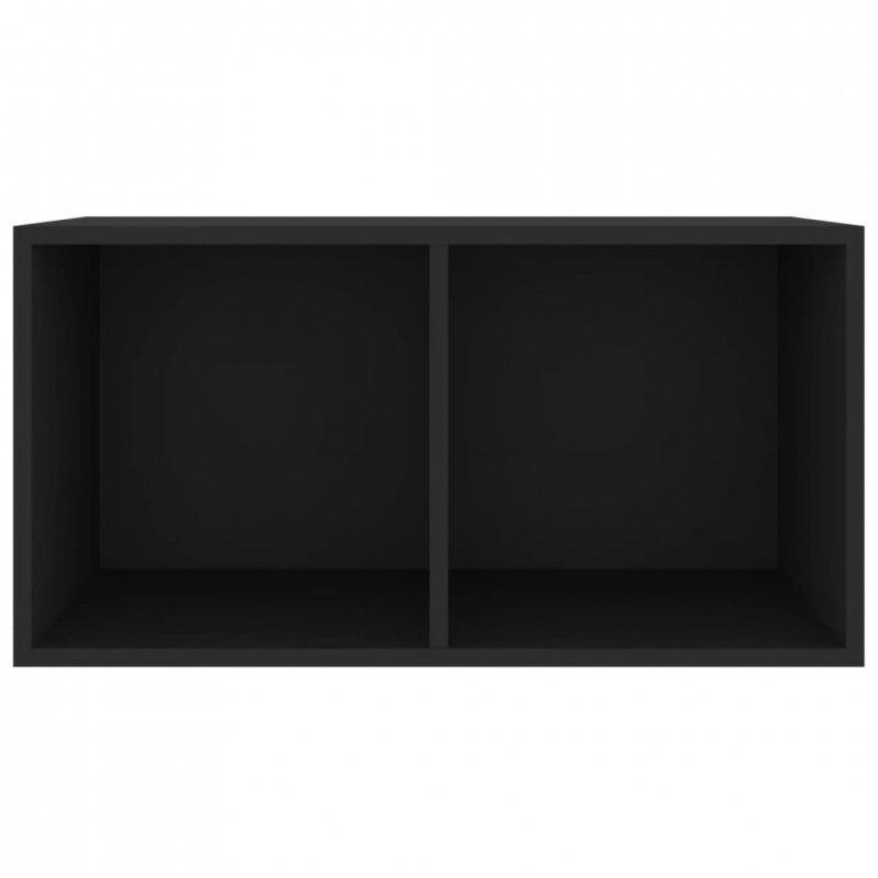 Szafka na płyty winylowe, czarna, 71x34x36 cm, płyta wiórowa