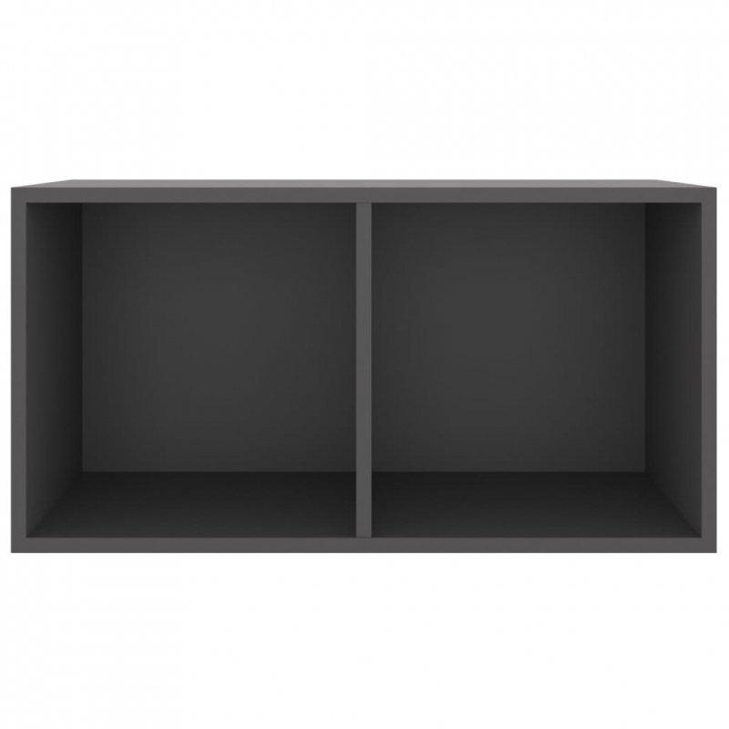 Szafka na płyty winylowe, szara, 71x34x36 cm, płyta wiórowa