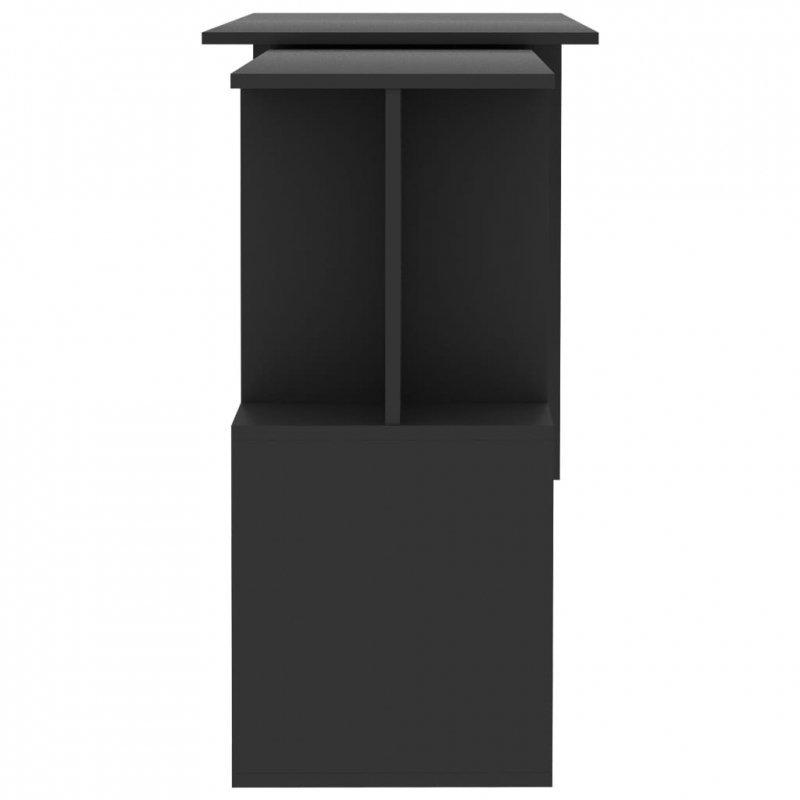 Biurko narożne, szare, 200x50x76 cm, płyta wiórowa